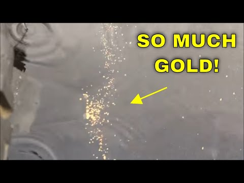 LOTS OF GOLD (!!!!) recovered from sluice/placer black sand tailings left by miners