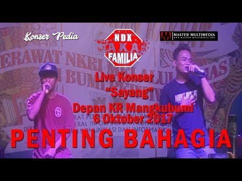 NDX A.K.A LIVE KONSER - SAYANG -  Live Depan KR 6 Oktober 2017 (FULL HD )