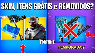 FORTNITE-SKIN, FREE ITEMS PS4 and REMOVED SEASON 9?
