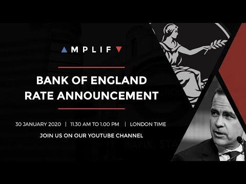 LIVE Bank of England - 30th January 2020