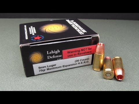 Lehigh Defense 9mm 70 Grain Maxiumum Expansion HERO Denim and Gel Test