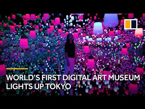 World's first digital art museum lights up Tokyo, Japan