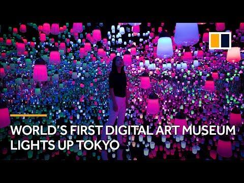 World's first digital art museum lights up Tokyo, Japan