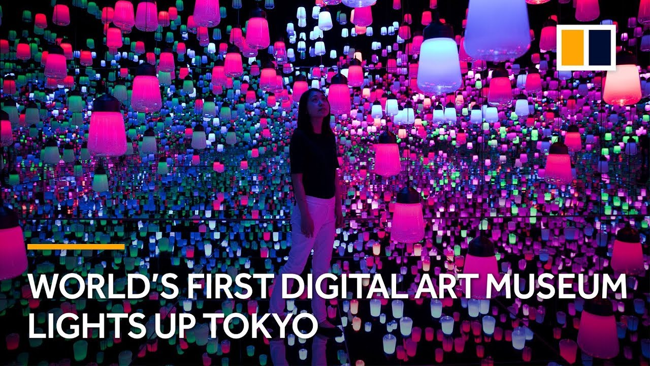 World S First Digital Art Museum Lights Up Tokyo Japan