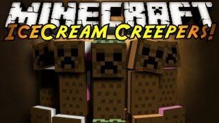 Обзор мода minecraft Шоколадные Криперы! Мороженое! (Ice Cream Sandwich Creeper)№57