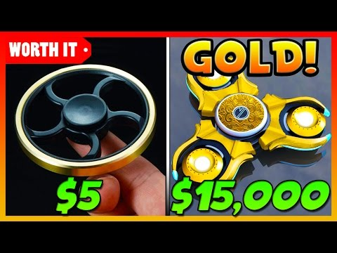 Thumbnail: $5 FIDGET SPINNER VS $15,000 GOLD FIDGET SPINNER!!