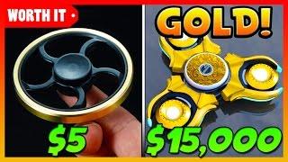 $5 FIDGET SPINNER VS $15,000 GOLD FIDGET SPINNER!!