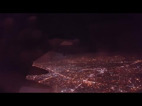 Night time Take off from Indira Gandhi International Airport, New Delhi