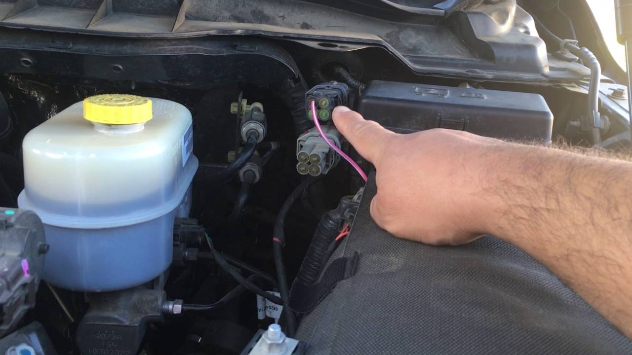 PART 2 How to wire 2014 RAM 3500 LED Light bar using factory auxiliary switch and a relay switch