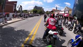 Bikes Blues and BBQ 2015 - Dickson St.