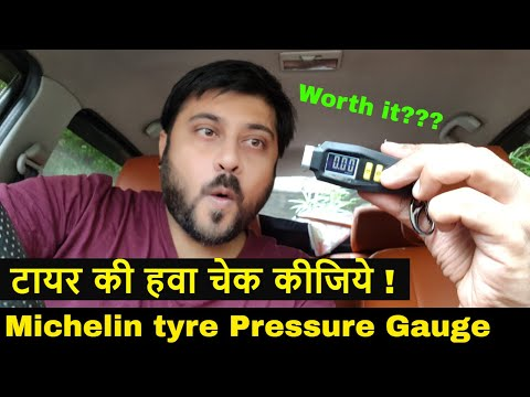 Michelin 12290 Tyre Pressure Gauge with Keyring | Hindi