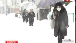 Мощные снегопады обрушились на Японию