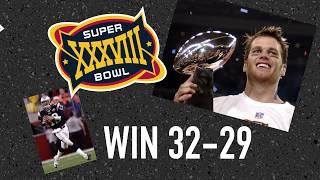 Tom Brady's history in the Super Bowl