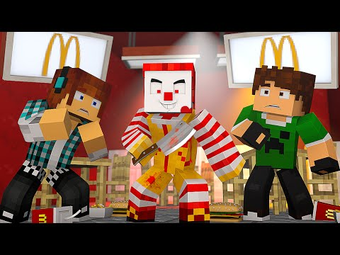 Minecraft: TERROR NO McDonald's !! (Horror Map Minecraft)