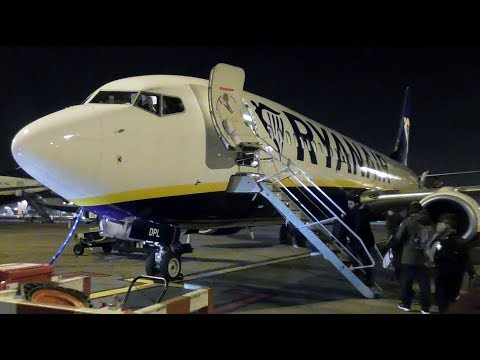 Ryanair Boeing 737-8AS Dublin to Manchester | Full Flight in Storm Eleanor