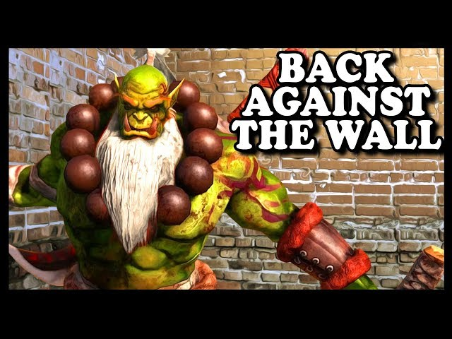 Grubby | WC3 | Back Against The Wall...