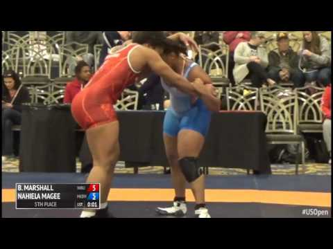 75 5th Place - Brittany Marshall (Wayland Baptist University) vs. Nahiela Magee (McKendree Bearca...