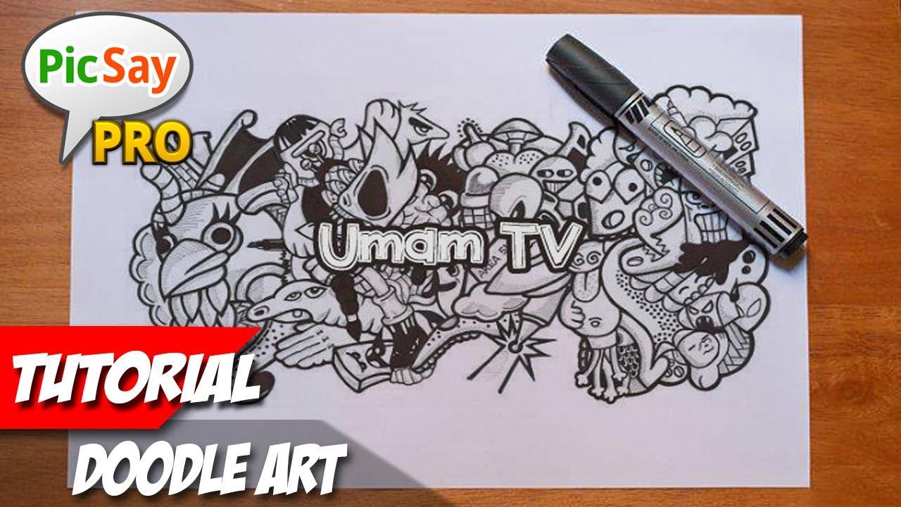 Cara membuat doodle art picsay pro tutorial