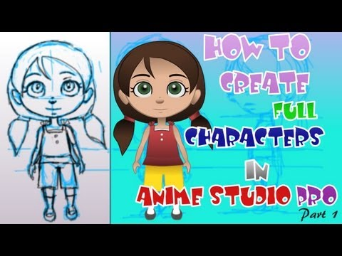 1. How to Create Advanced Characters in Anime Studio Pro (Basic Construction)