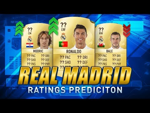 FIFA 18 REAL MADRID PLAYERS RATINGS PREDICTION ft. RONALDO, BALE, RAMOS & more