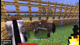 Ферма животных в Майнкрафт. Как приручить лошадь. Как скрестить лошадь и ослика.