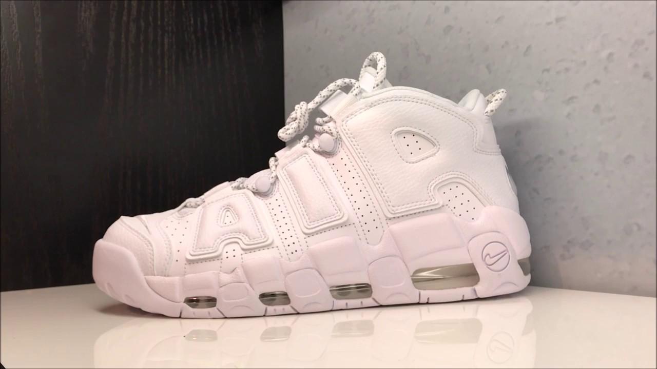 Nike Air More Uptempo Triple White Sneaker