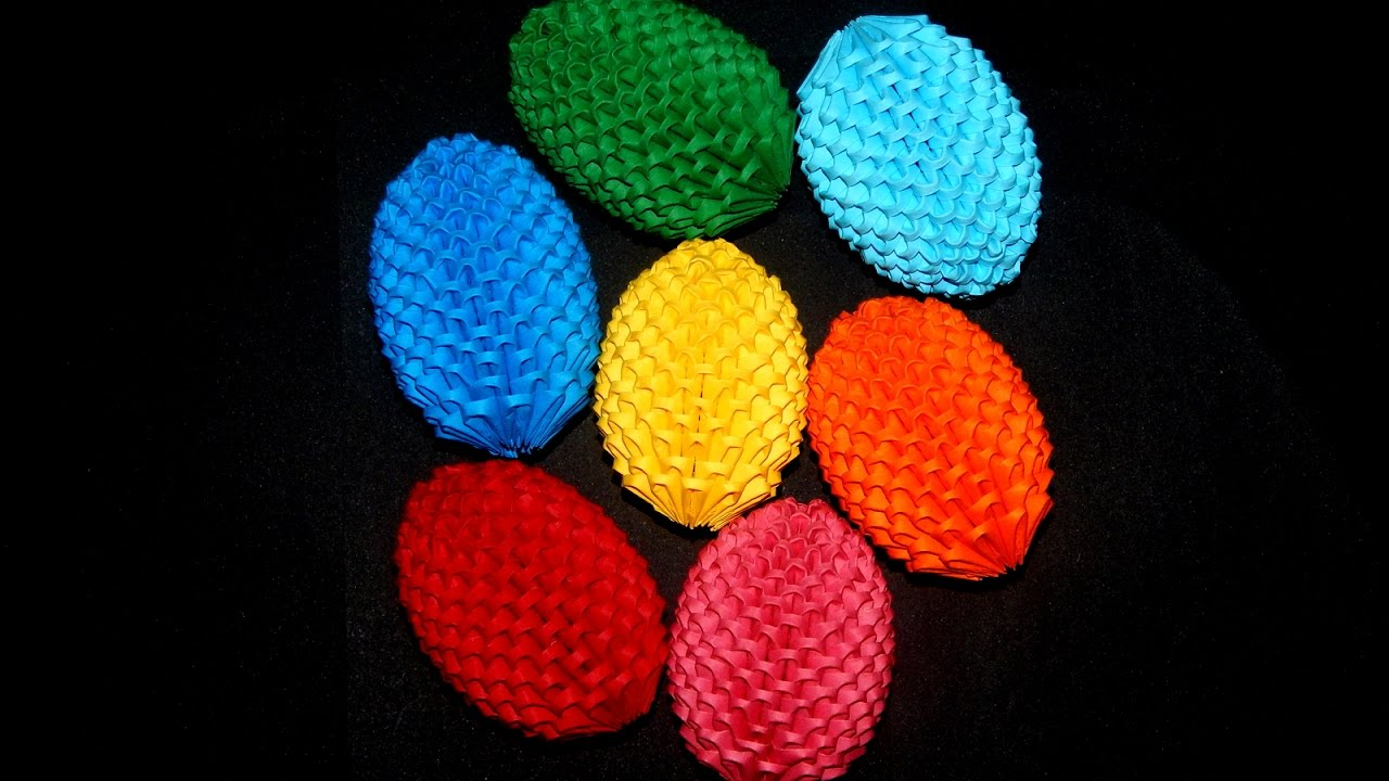 Origami Easter Egg Box Tutorial (Modular) - DIY - Paper Kawaii ...   720x1280