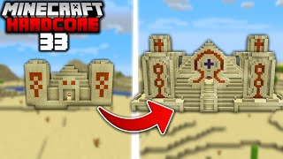 I Built a Giant DESERT PYRAMID in Minecraft Hardcore (#33)