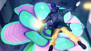 Watch Dogs Psychedelic Digital Trips - Jumping on flowers
