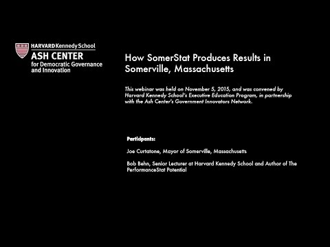 How SomerStat Produces Results in Somerville, Massachusetts