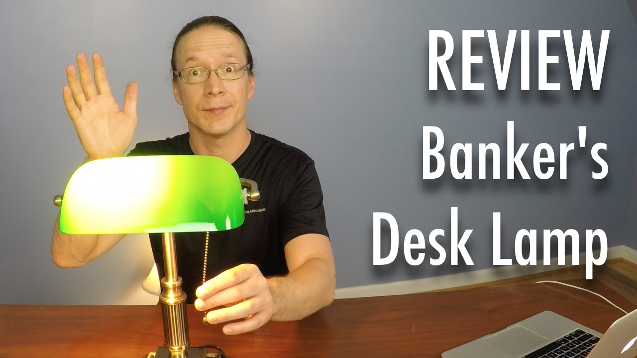 Review VLight Bankers Style Desk Lamp YouTube – V Light Desk Lamp