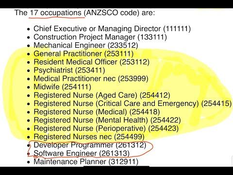 Priority Migration Skilled Occupation List (PMSOL) [September 2020]