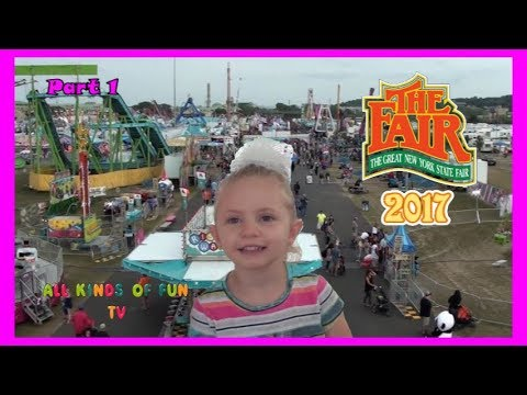 New York State Fair 2017 Family Fun outdoor Theme Park with Haunted House, Ferris Wheel and MORE...