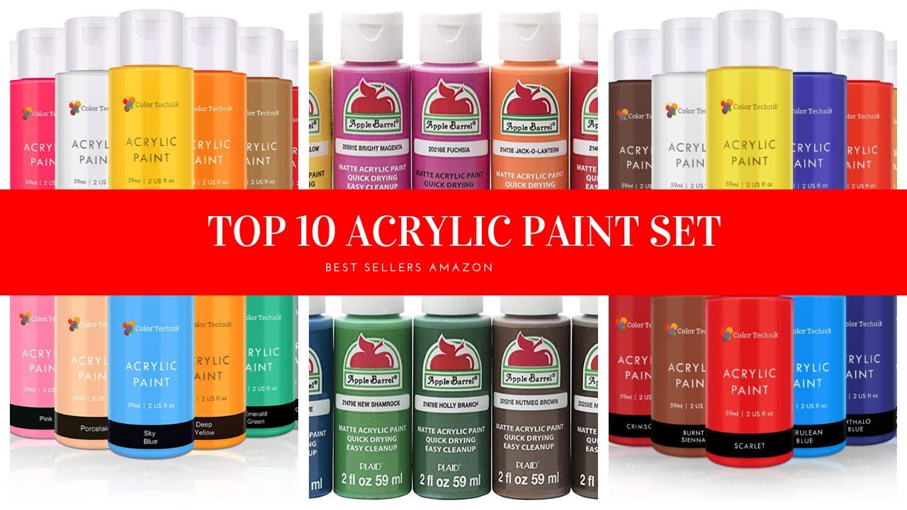 Top 15 Best Acrylic Paints To Buy With Reviews 2021