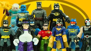 ROBIN pretends to be BATMAN and fights MR FREEZE, BANE, and PENGUIN with BATGIRL imaginext toy video