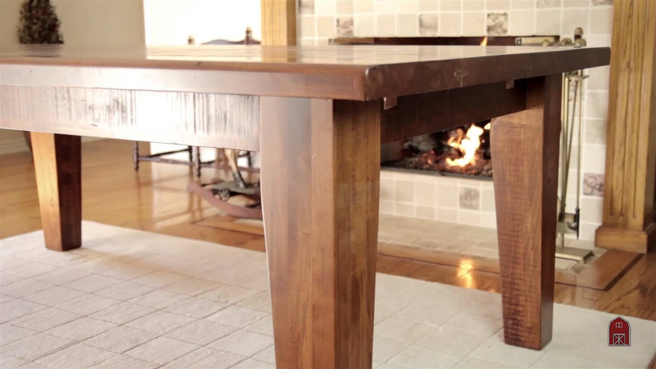 Barn Furniture Rustic Timber Dining Table Youtube