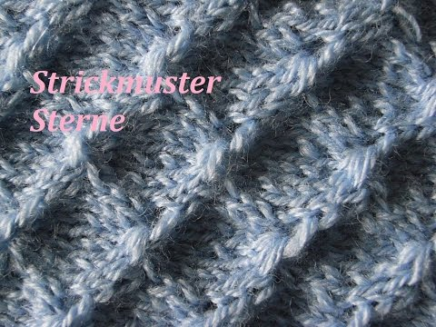 Sternmuster Stricken* Muster Stricken*Muster für Pullover*Mütze Tutorial