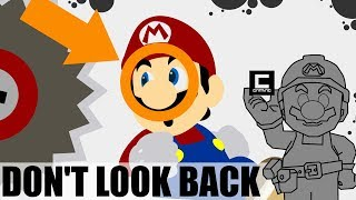 """3 Designs for """"Don't Look Back"""" Levels in Super Mario Maker."""