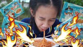 นนนี่แก้ตัว กินมาม่าเผ็ดเกาหลี เผ็ดเกือบตาย