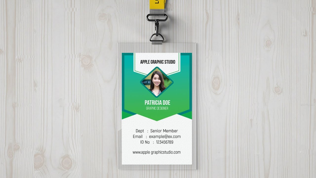 identity card design tutorial in photoshop make your own id badge