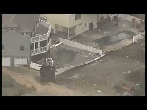 Hurricane Sandy aftermath - Raw video from Long Beach Island, NJ