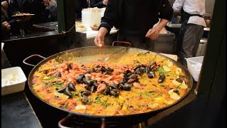 Huge Seafood Paella and Scottish Highland Burgers in Borough Market - London thumbnail