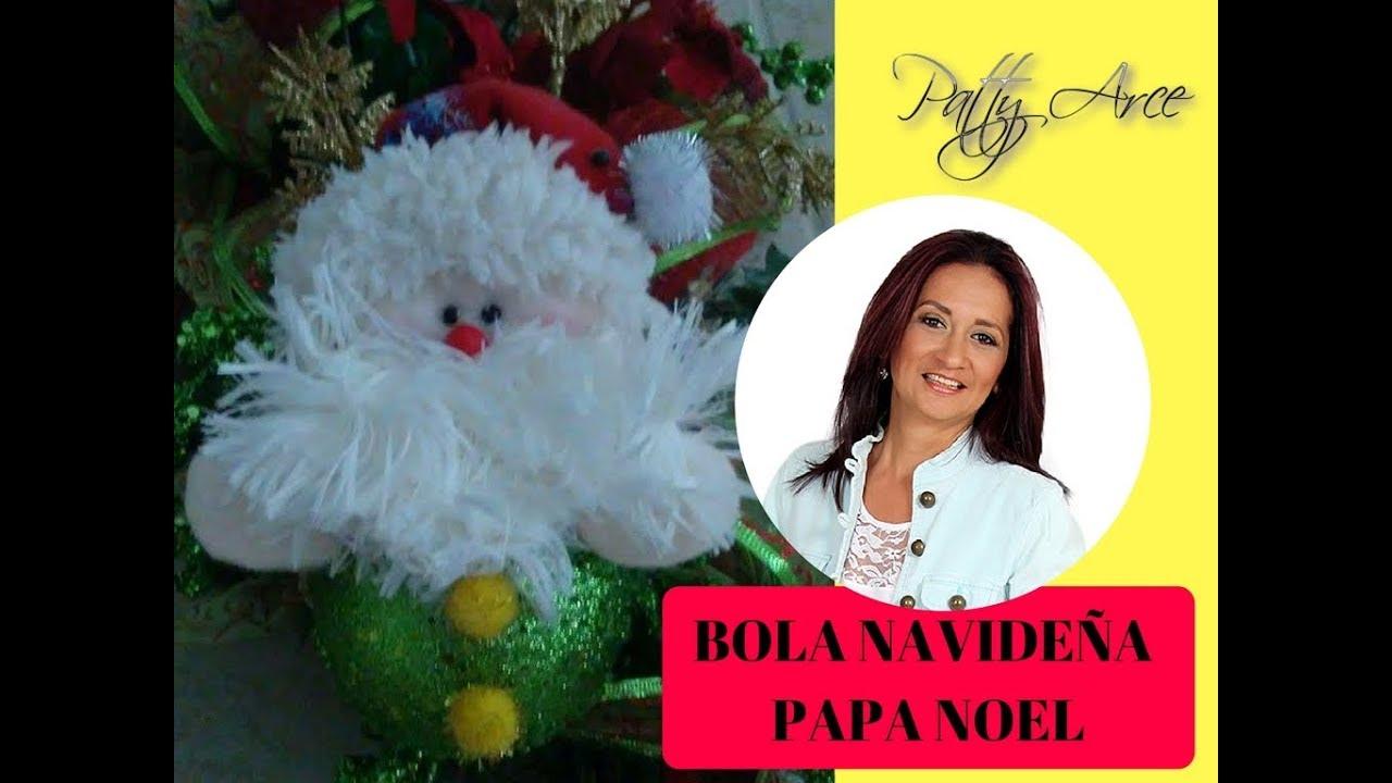 decoracion navidea bola de navidad papa noel