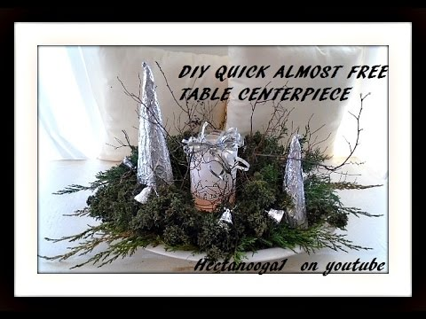 DIY- Almost free GREENERY TABLE CENTERPIECE