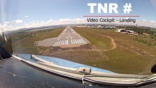 Landing at Antananarivo, Ivato (TNR) Madagascar - Cockpit View