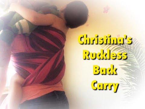 Christina's Ruckless Back Carry Video Tutorial - How To - Mama Pye
