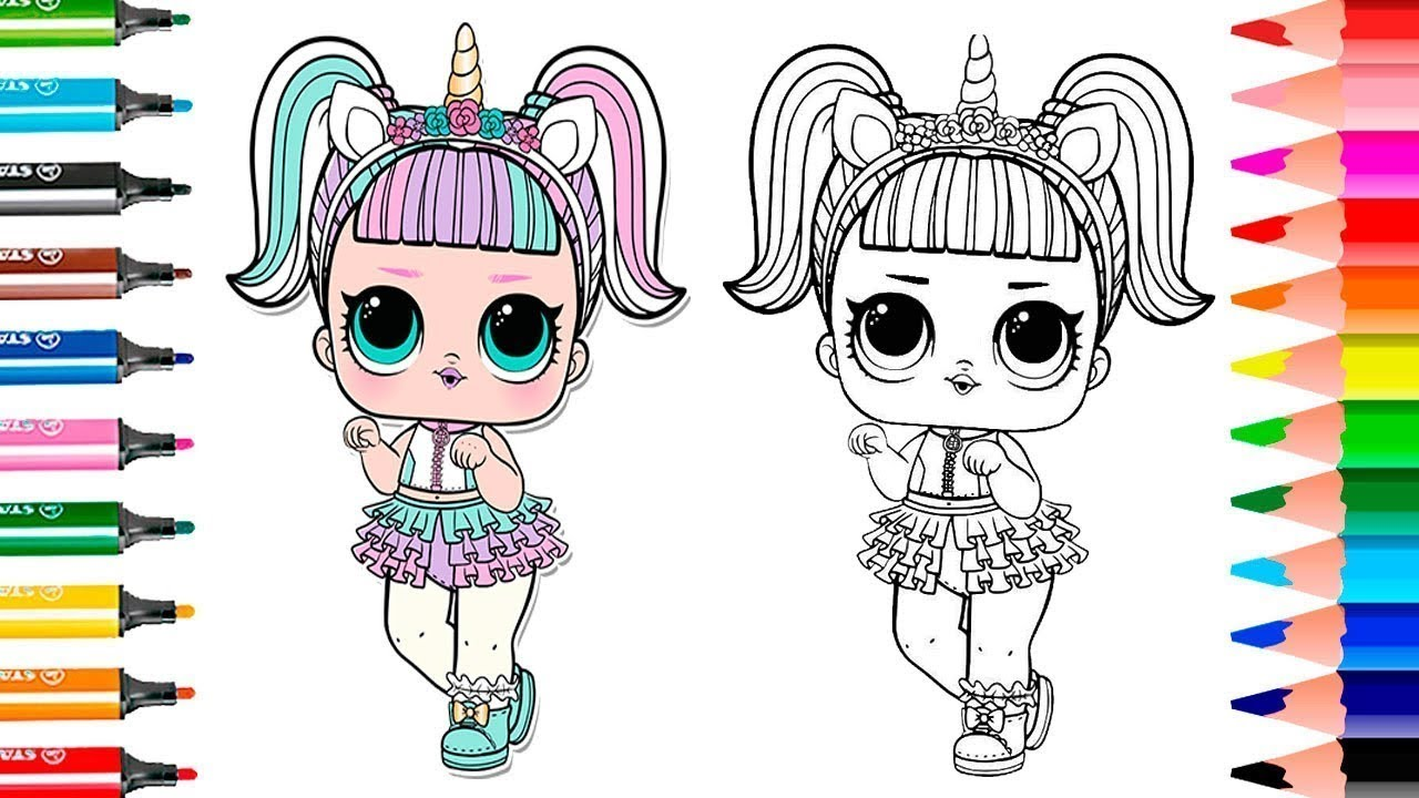 LOL Surprise Dolls Coloring Book Unicorn   TOYSGAMESVIDEOS ...