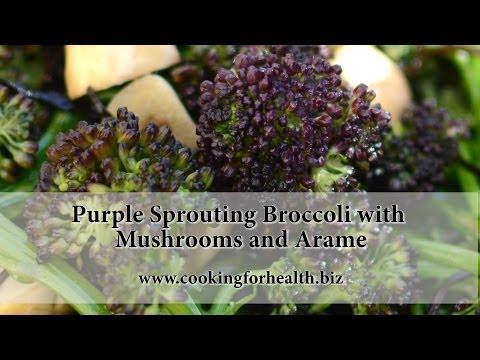 Wok-Seared Crimson Broccoli With Creamy Sauce
