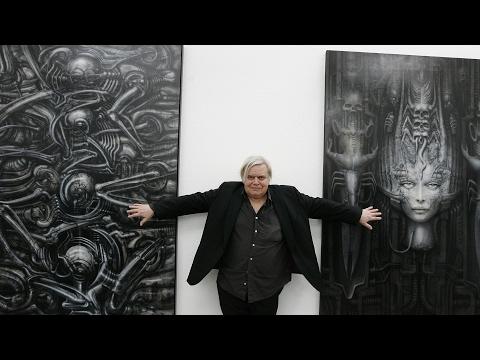 An  with Alien artist HR Giger