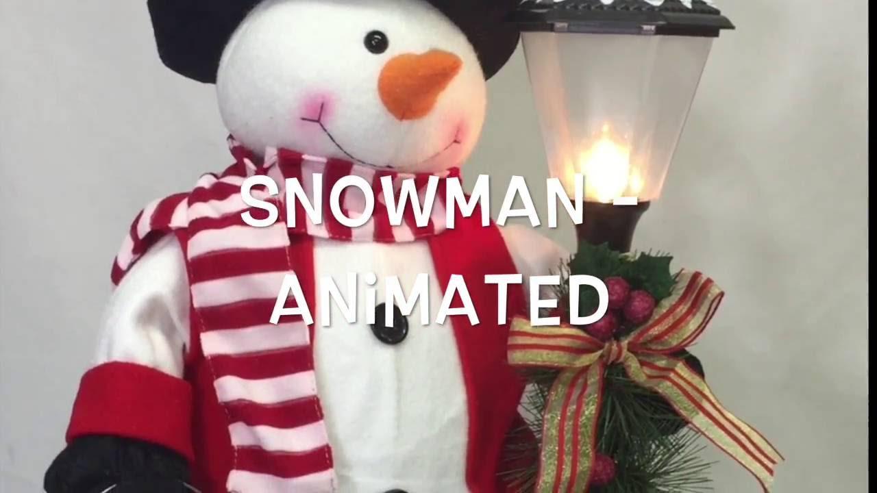 snowman animated christmas decoration